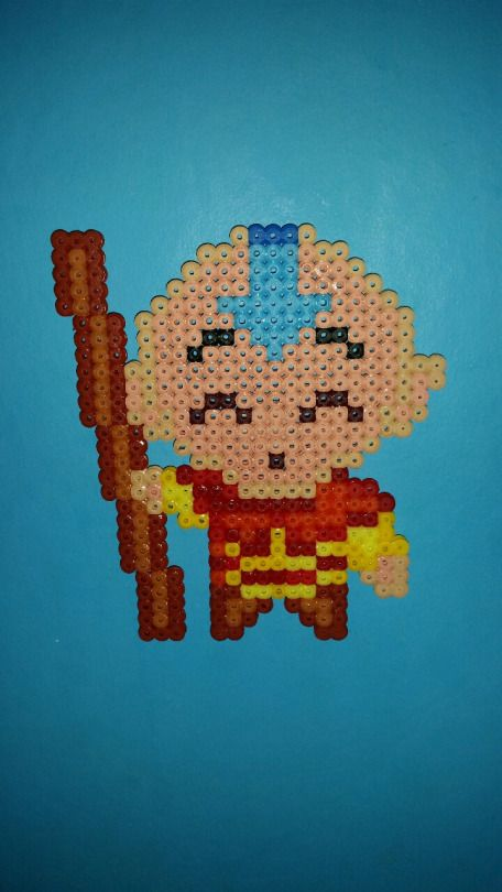 Avatar Legend of Aang -  Aang hama perler beads by davedudedead