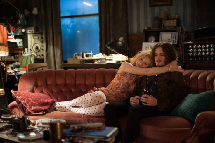 Anton Yelchin and Mia Wasikowska in Only Lovers Left Alive (2013)
