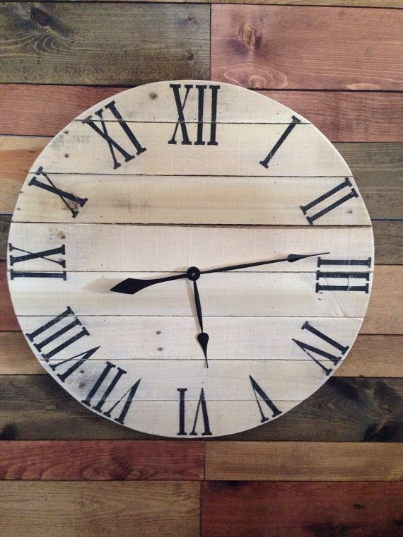 This DIY Wood Pallet Clock Can Also Make A Beautiful Gift For All Homey  Personal And Is Awe Inspiring! Pallet Slats Have Been Pack Flat To Gain A  Wooden ...