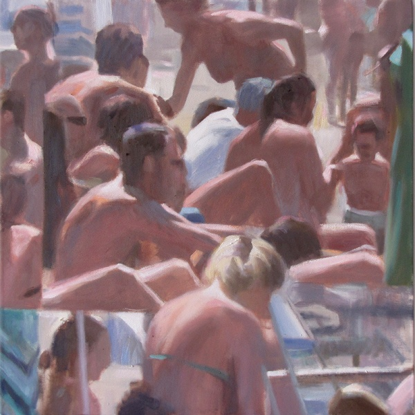 Bagnanti 1535, oil on canvas, cm 50x50. #art #bathers