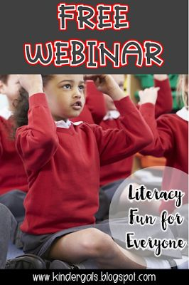 KinderGals: Free Webinar: Literacy Fun for Early Learners