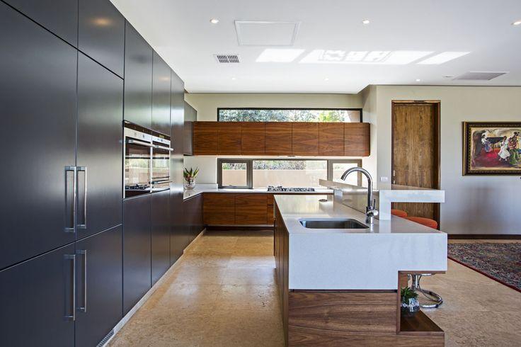 Loving the combination of timber and Alaska Caesarstone Charlotte van der Haer uses in this Caesarstone Kitchen Designers 2013 finalist design! www.caesarstone.co.za