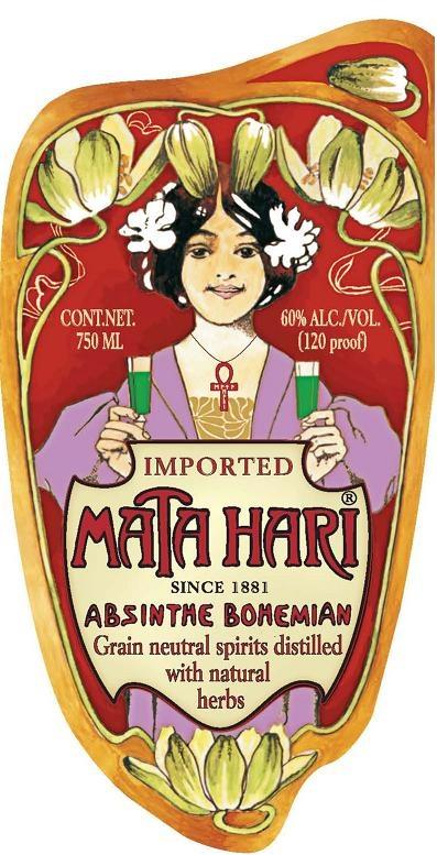 #MataHari | since 1881 | Absinthe Bohemian | Grain neutral spirits distilled with natural herbs