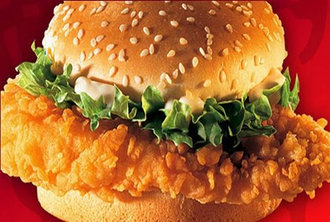 Zinger Burger (by chef Zakir):Recipe ◾2 chicken breast thin slices ◾½ cup flour ◾½ cup corn flour ◾½ cup rice flour ◾2 tb.s baking powder ◾1 egg ◾1ts salt ◾1ts black pepper ◾1ts white pepper