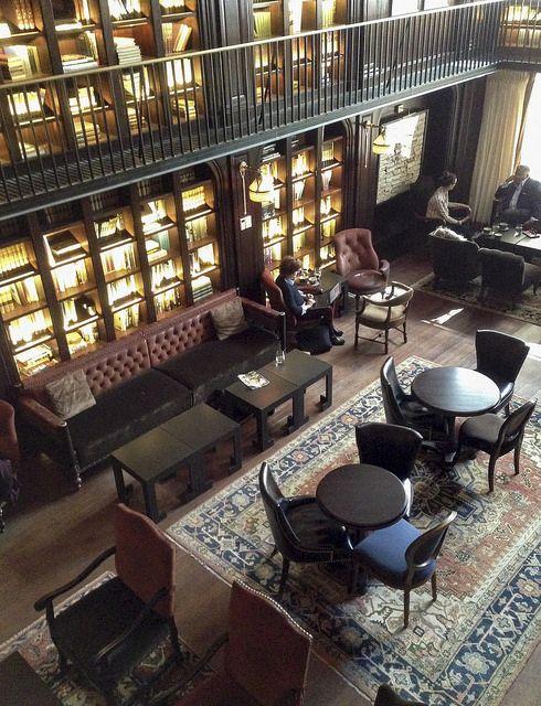 Nomad Hotel library room - NYC http://oldschoolmastershouse.com.au
