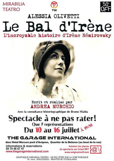 Riflettori su...di Silvia Arosio: Le bal d'Irène al Festival Di Avignon Off 2015