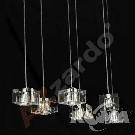 Box 6 lampa wisząca G4 6x20W 12V chrom