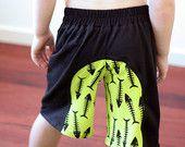 Surfer Shorts pattern - boys/unisex contrast  panel shorts - PDF pattern - child sizes 1 to 12 years