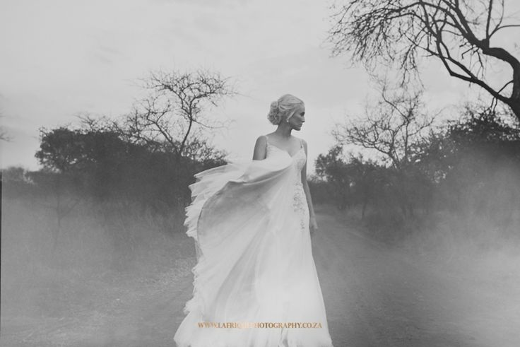 a beautiful photo of christien on her wedding day