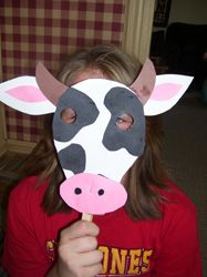 Cow Mask- great for Cow Appreciation Day at Chick-fil-A