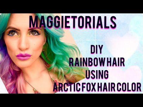 DIY Rainbow Hair with Arctic fox hair dye - YouTube