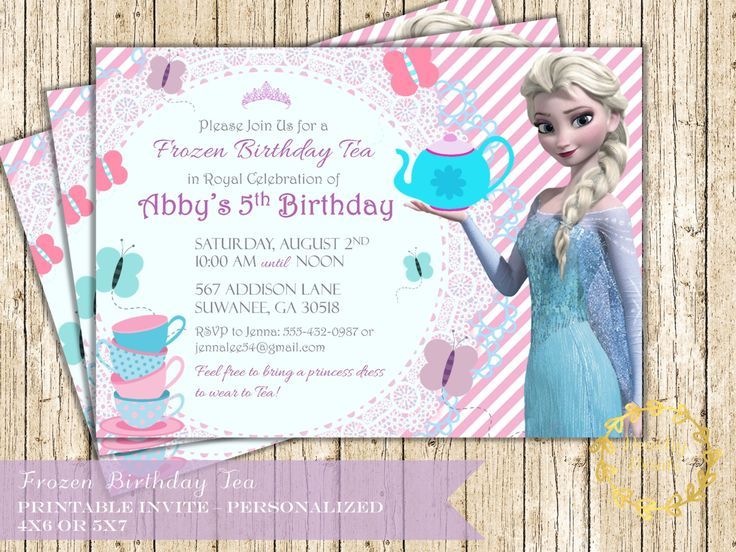 25 best Frozen Tea Party ideas – Disney Princess Tea Party Invitations