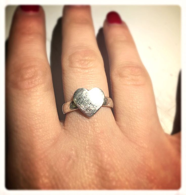 #ring #anello #cuore #heart #silverclay #handmade
