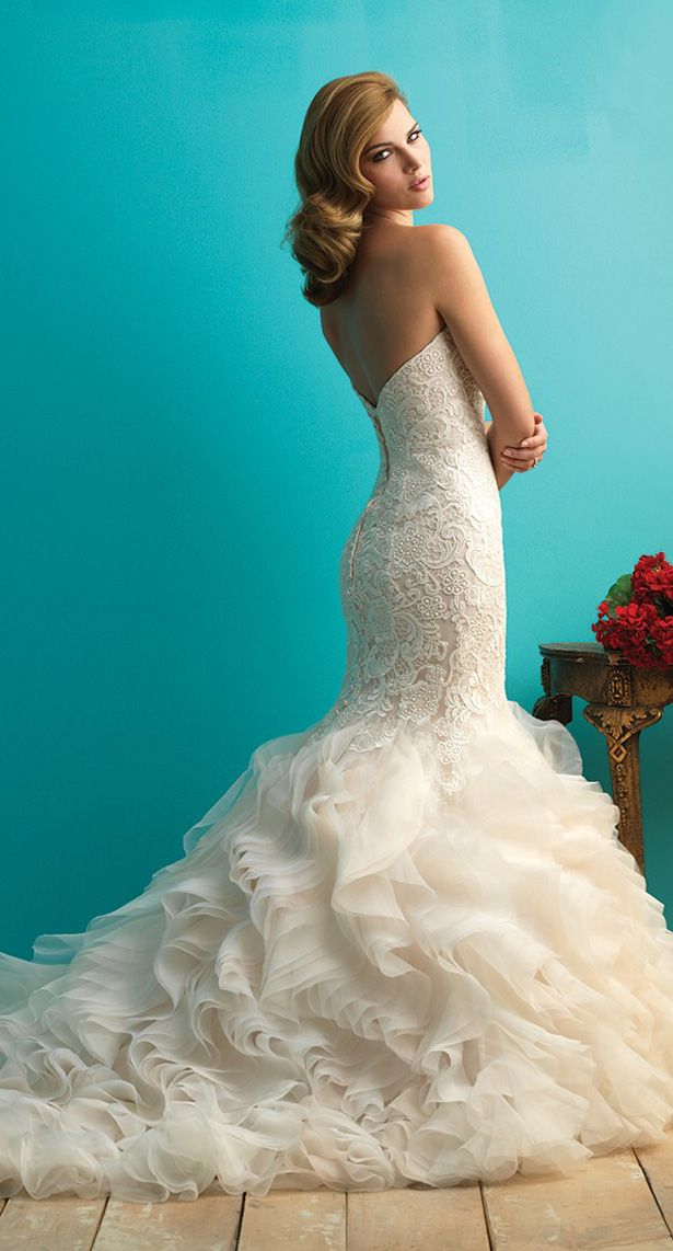 Allure Bridals Fall 2015 #Wedding #WeddingDress #BridalGown