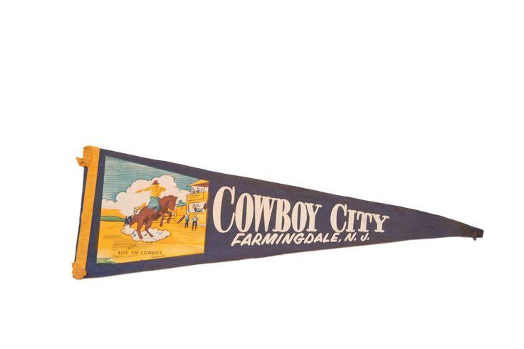 Cowboy City Farmingdale NJ Felt Flag