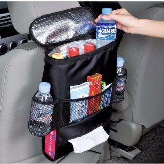 ขอแนะนำ  Car Back Seat Bag Baby Organizer Holder Multi-Pocket Storage(Black) - intl  ราคาเพียง  306 บาท  เท่านั้น คุณสมบัติ มีดังนี้ Multi-function& Storage Bag Hanging Organizer Cooler Insulated Mummy Baby Stroller Pockets For Travel Car Seat Back Nappy Bags