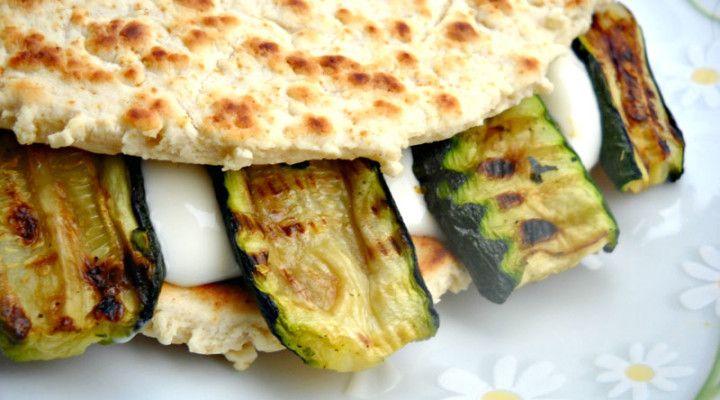 Piadina squacquerone zucchine e mozzarella   Severin for Fun