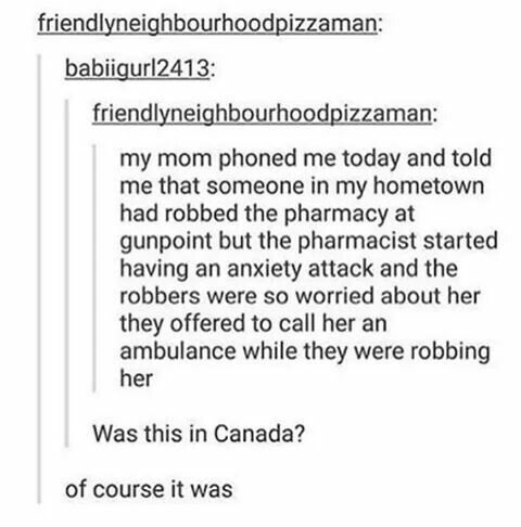 """the word """"phoned"""" should've tipped them off that it was in canada"""