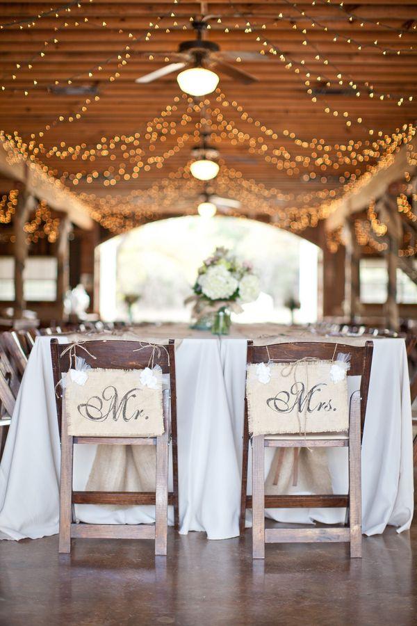 Mr Mrs Barn Wedding Signs