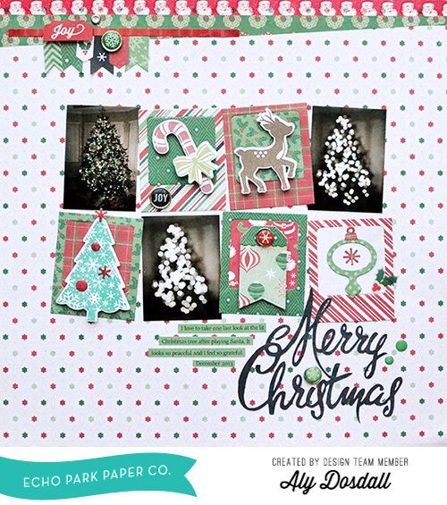 "Merry Christmas by Aly Dosdall with the ""Christmas Cheer"" collection and Designer Stamp & Die Set by #echoparkpaper."