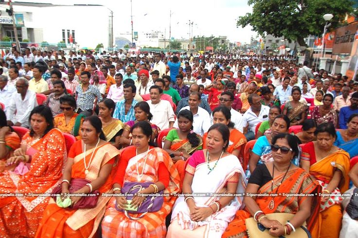 BJP's Rally at Sukantala Road Agartala on 17 June 2016 http://www.tripuraindia.com/