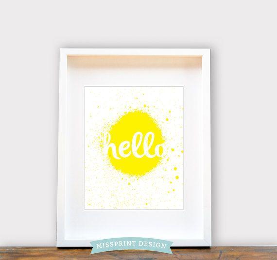 Hello  Wall Art 8x10 Print House Warming by missprintdesign, $18.00