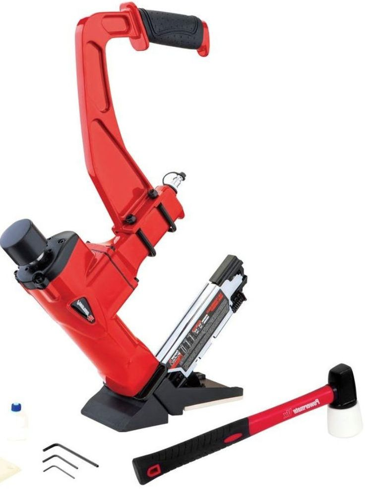 Powermate 3-in-1 Hardwood Flooring Nailer/Stapler Power Tool Set Equipment  #Powermate #Nailer #Stapler #PowerTool