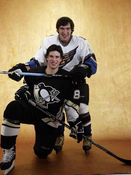 Sidney Crosby and Alex Ovechkin. 2 of the best players in the NHL. There's just one thing that separates them in my opinion; Crosby is a crybaby and a pussy. Ovechkin is a true hockey player and the best Russian NHL player since Sergei Fedorov.