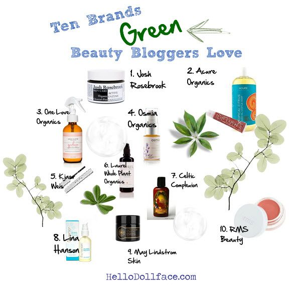 Ten brands that green beauty bloggers LOVE! http://hellodollface.com/2014/07/ten-brands-green-beauty-bloggers-love/