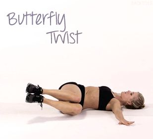 butterfly twist. do as many as you can stand!
