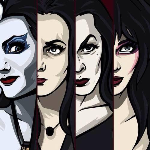 Lily/Morticia/Vampira/Elvira