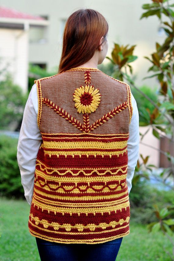 Vest Ladies Vest Embroidered Vest Hand Embroidery от Monpasier