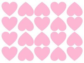 Muurstickers Hartjes Deze hartjes muurstickers zijn 35x39 mm, er zitten er 20 op een vel. De hartjes stickervellen zijn gemaakt van een matte stickerfolie van zware kwaliteit. De stickers zijn makkelijk verwijderbaar. Zowel binnen als buiten toepasbaar. Verkrijgbaar in de kleuren zwart, wit, mintgroen, roze, fuchsia roze, blauw, marine blauw en glanzend zilver.