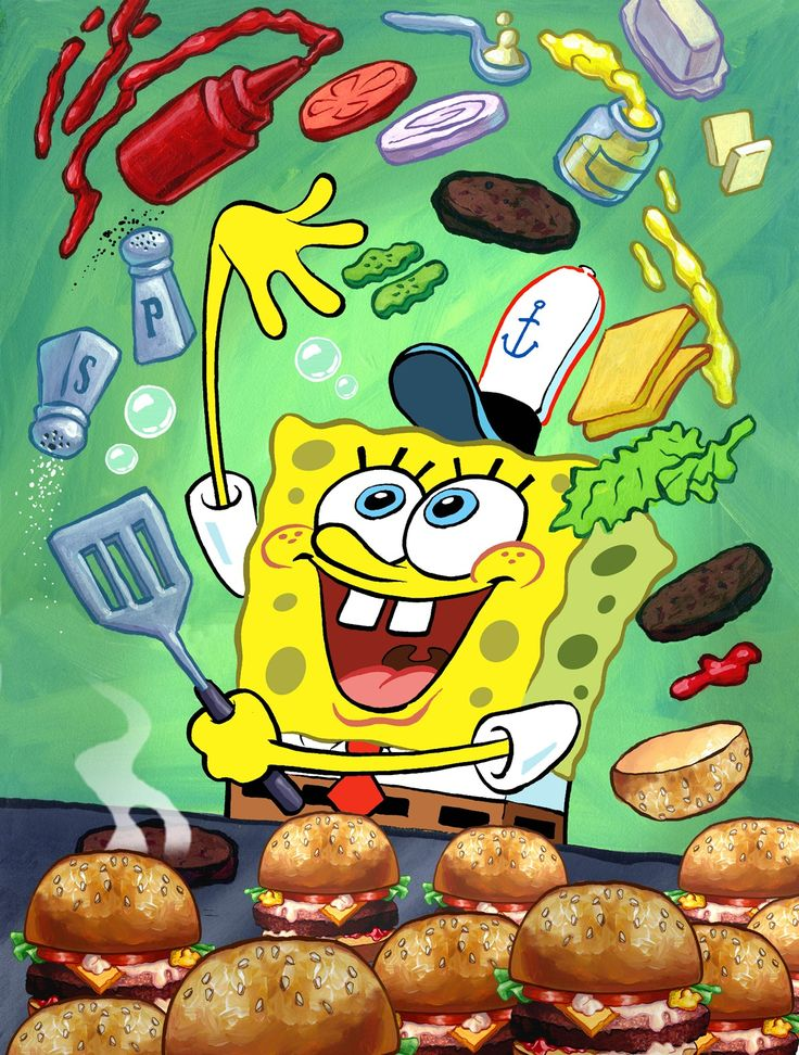 Receita do hambúrguer de siri do Bob Esponja!