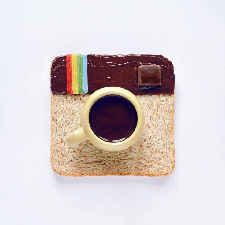 Une jeune artiste russe réalise les logos des réseaux sociaux avec de la nourriture. #Instagram