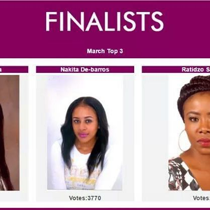 Congratulations to our TOP 3 March contestants!    Zanele Danisa, Ratidzo Samkange and Nakita De-barros had the highest votes respectively and each now have a spot among the 12 finalists for the #BOFOZ2017 September Grand Finale.    #AllEyesOnMe  #BLKOPL