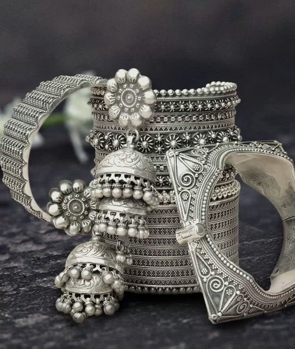 Silver cuffs