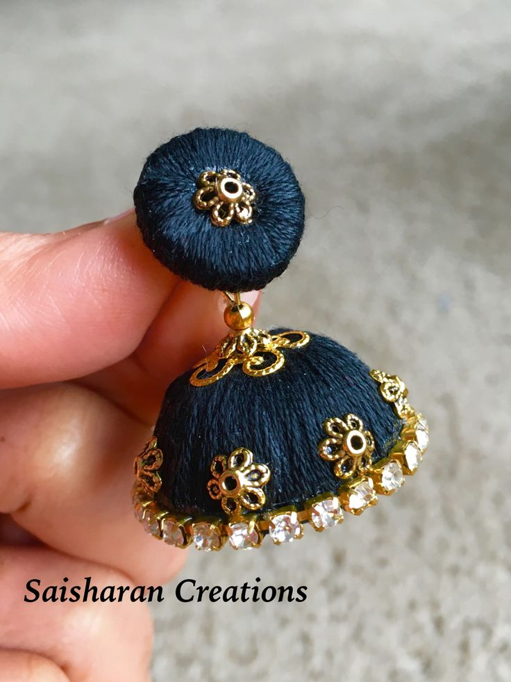 108 best Silk Thread Jhumkas images on Pinterest | Thread ...