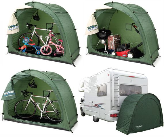 New - Tidy Tent XTRA- all green : Cave Innovations, storage solutions for Gardening, Camping, Caravans and Mobility Scooters. *What a FANTASTIC idea!!