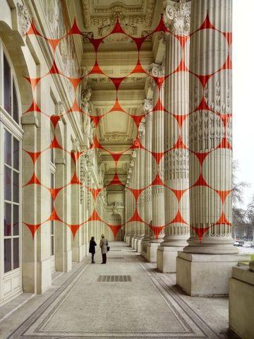 Felice Varini at the Grand Palais