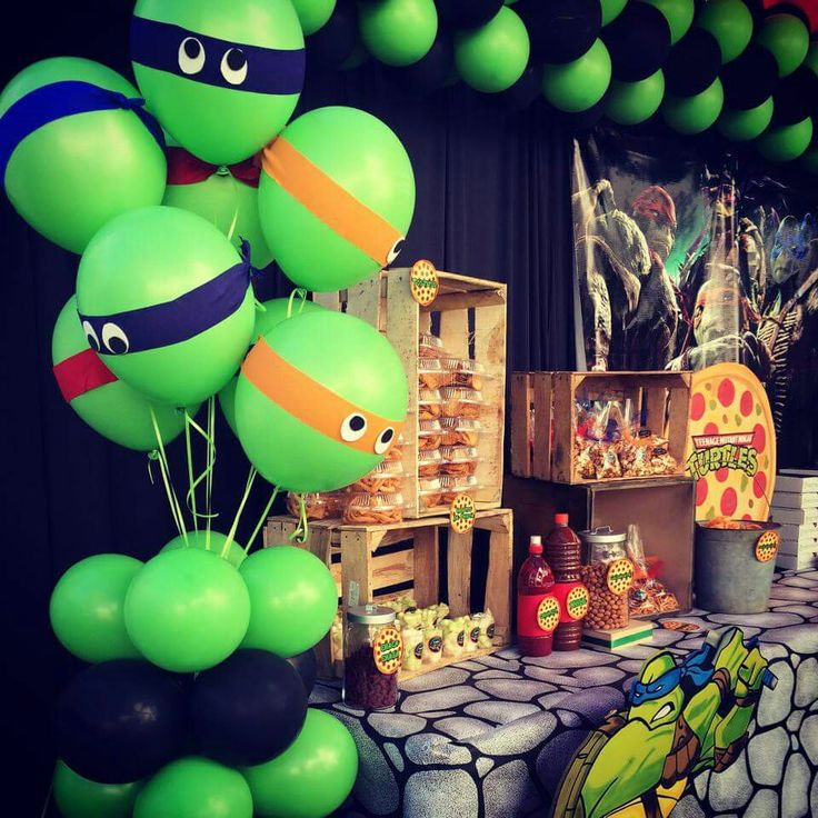 1000 images about ninja turtles on pinterest balloon for Tmnt decorations