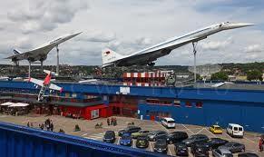 Concorde und Tupolev TU-144 im Technikmuseum Sinsheim, DE