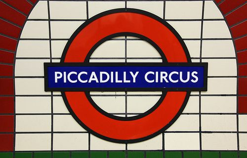 Piccadilly Circus London Underground Station in London, Greater London