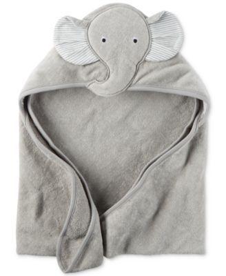Carter's Baby Boys' Hooded Elephant Towel