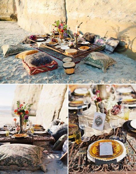 boho beach dinner party