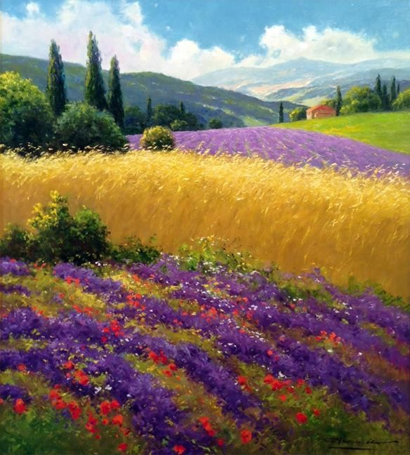 my new passion - flowers and landscapes from the painter Neswadba