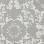 Papercuttings oilcloth - light grey - Design by Susanne Schjerning