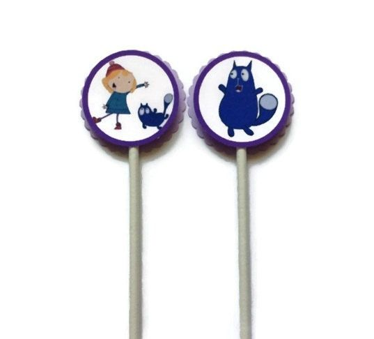 Cupcake Toppers Peg plus Cat by MiniOnes on Etsy, $6.75