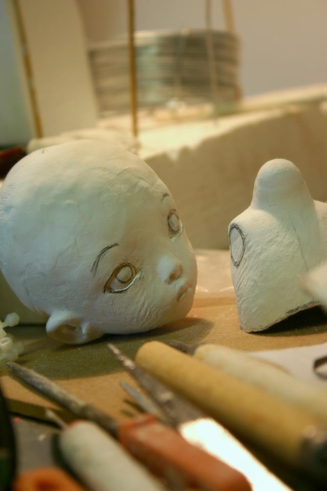 Linda Macario dolls new one of a kind, work in progress...