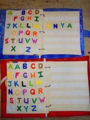 alphabet quiet book pages by bernadette